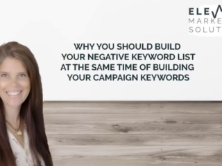 Why you should build you negative keyword list while building your keyword list